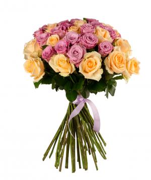 "Roses ""Maretim & Peach Avalance"" mix 51 штук"