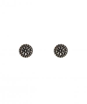 """Earrings """"DF Project""""pattern silver №3"""