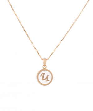 """Pendant """"Less is more"""" gold №39"""