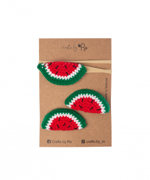 """Set """"Crafts by Ro"""" hairpins watermelon №2"""