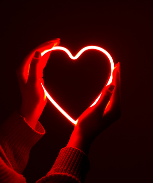 Լամպ «Neon Signs» նեոանային, կարմիր սիրտ