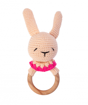 """Rattle """"Crafts by Ro"""" bunny"""