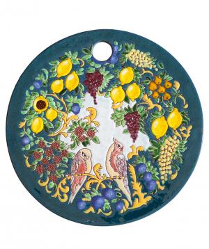 "Cheese plate ""ManeTiles"" decorative, ceramic №26"