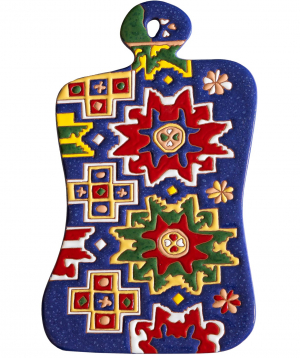 "Cheese plate ""ManeTiles"" decorative, ceramic №17"