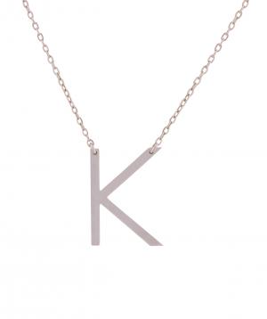 Necklace `Silverist` letter A