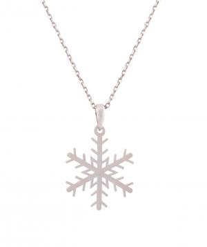 Necklace `Silverist` snowflake №1