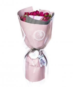 Ծաղկեփունջ «Hebe» փնջային պիոնանման վարդերով