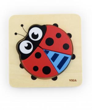 Puzzle `Ladybird` wooden