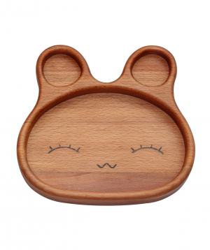 Eco plate `WoodWide` bunny