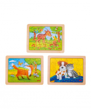 "Toy ""Goki Toys"" puzzle animal friendship"