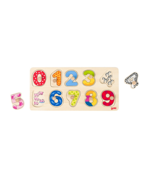 Toy `Goki Toys` puzzle learn to count