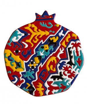 "Cheese plate ""ManeTiles"" decorative, ceramic №14"