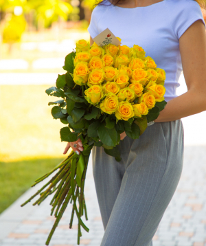Roses «Penny Lane» yellow 29 pcs