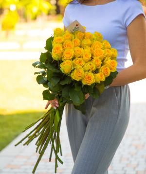 Վարդեր «Penny Lane» դեղին 29 հատ
