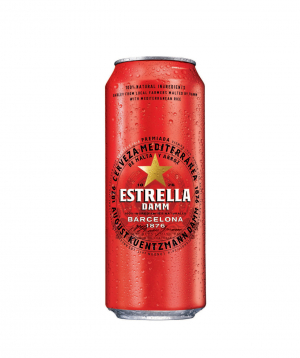 Beer `Estrella Damm` 330 ml