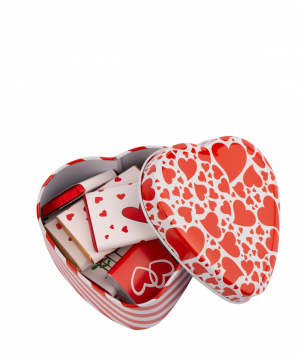 """Gift box """"Gourme Dourme"""" heart, with chocolate candies"""