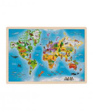 """Toy """"Goki Toys"""" puzzle World"""