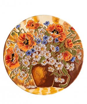 "Cheese plate ""ManeTiles"" decorative, ceramic №22"