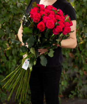 Roses `Attraction` red 29 pcs