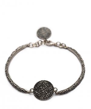 """Bracelet  """"DF Project"""" carpet silver №3"""