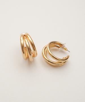 """Earrings """"Rougecoco"""" Triple Hoop"""