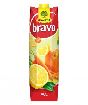 Juice `Bravo` natural, orange 1l