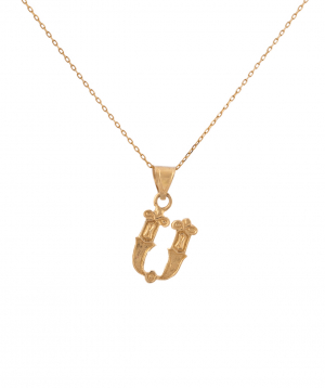 """Pendant """"Less is more"""" gold №26"""