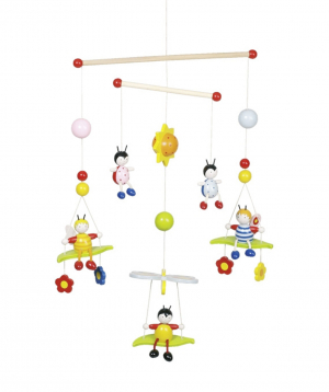 Mobile `Goki Toys` 3d bees and beetles