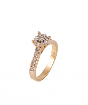 """Ring """"Less is more"""" gold №9"""