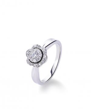 "Ring ""Lazoor"" golden, with diamond stones №8"