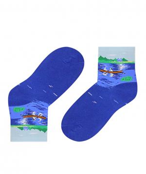 Գուլպաներ «Zeal Socks» նավը լճի վրա