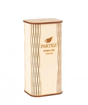 """Tea """"Partez"""" in a wooden souvenir box, tonic mix"""