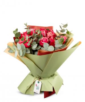 Ծաղկեփունջ «Սիենա» վարդերով