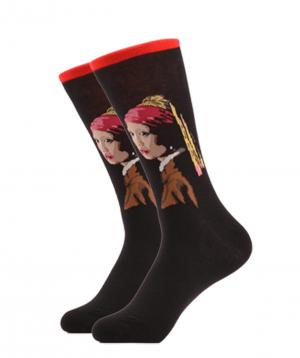 """Գուլպաներ """"Zeal Socks"""" Մարգարտե ականջօղով աղջիկը"""