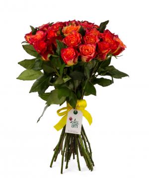 Roses `Lampion` 29 pcs