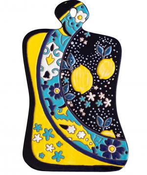 "Cheese plate ""ManeTiles"" decorative, ceramic №18"