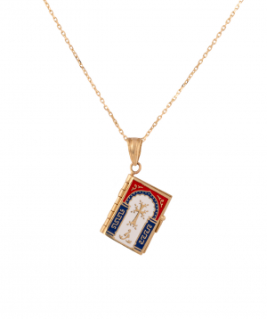 Pendant `Less is more` gold a prayer book №4