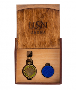 Pendant `Lusin parfume` fragrant with the first letter of your name