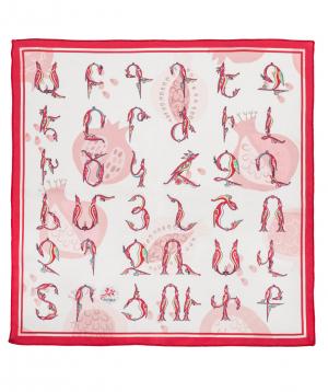Շարֆ «Մասուր» հայատառ կարմիր