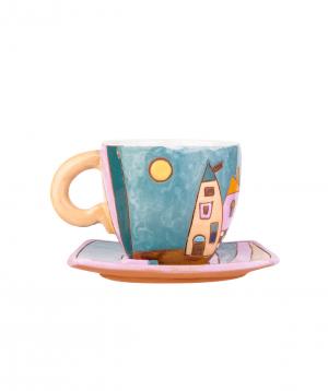 "Coffe mug ""Nuard Ceramics"" City. day-night №2"