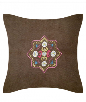 """Pillow """"Miskaryan heritage"""" embroidered with Armenian ornament №38"""