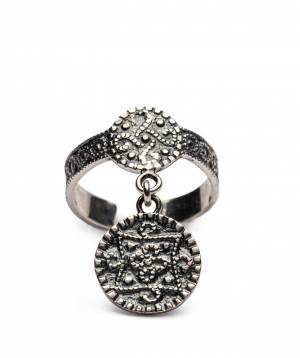 Ring `DF Project`carpet silver №2