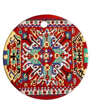 "Cheese plate ""ManeTiles"" decorative, ceramic №9"