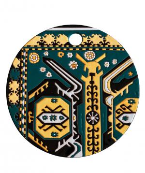 "Cheese plate ""ManeTiles"" decorative, ceramic №41"