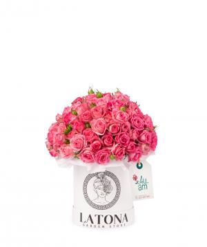 Կոմպոզիցիա «Մաիա» փնջային վարդերով