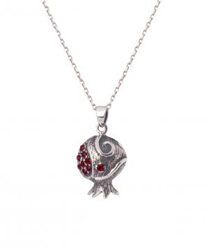 Necklace `Silverist` pomegranate №2