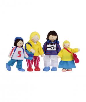 Խաղալիք «Goki Toys» ճկուն տիկնիկներ Holiday Family