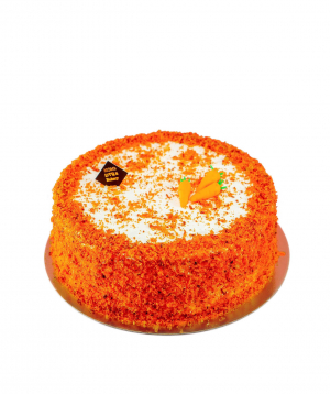 Cake `Moms Little Bakery` with carrots