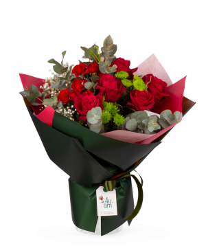 """Bouquet """"Sezhana"""" with roses and chrysanthemums"""