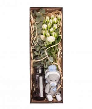 """Flowers """"Bella Flowers"""" in a box №1"""